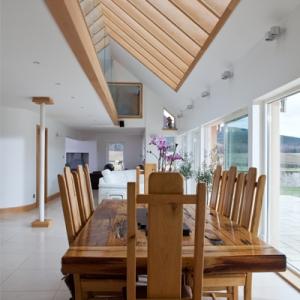 floor-to-ceiling glazed atrium