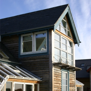 eco timber clad building