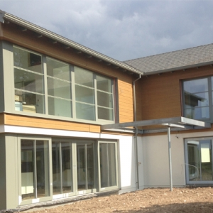Ringwood Eco House Hampshire under construction