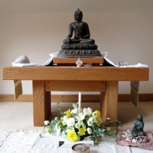 Chithurst Buddhist Monastery Abbots Kuti Shrine Sussex