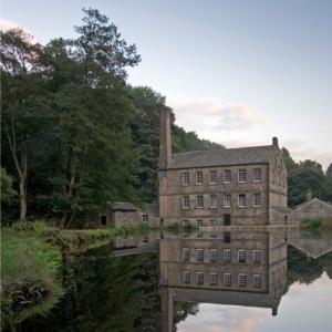 Gibson Mill from pond