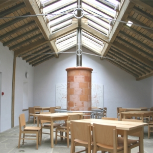 Zero carbon education centre interior