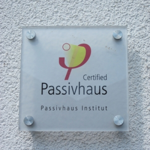 certified passivhaus institute plaque