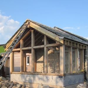 Skelsmergh Hall Eco Barn Conversion Kendal Cumbria under construction