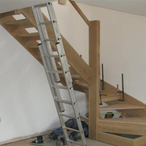 open plan oak staircase